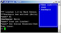 Linchat: Mini Konsolen-Chat auf der Linux Shell. Nicht komfortabel, doch schnell und universell einsetzbar.